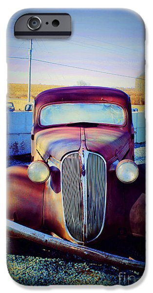 Old Cars iPhone Cases - Facelift Wanted iPhone Case by Roberta Byram