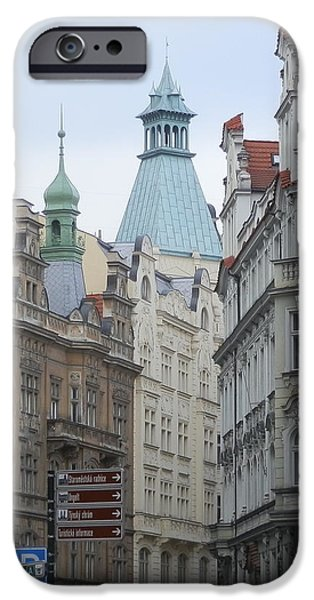 Facade iPhone Cases - Faces of Prague iPhone Case by Margaret Brooks