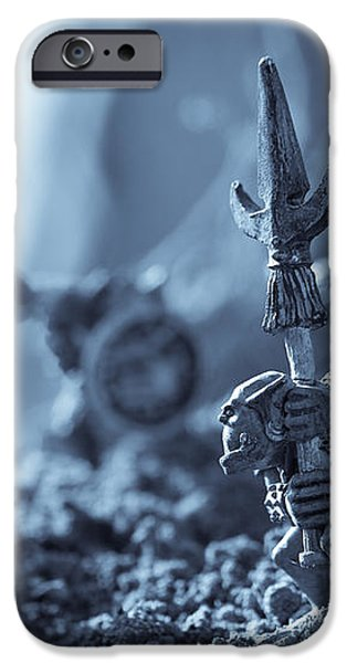 Facing The Enemy iPhone Case by Marc Garrido
