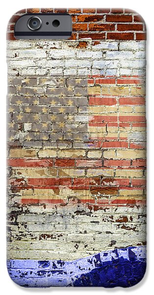 Old Glory iPhone Cases - Faded Glory iPhone Case by Joseph Yvon Cote