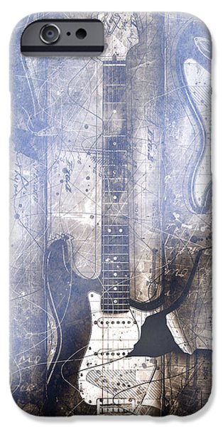 Fender Strat iPhone Cases - Fading Away iPhone Case by Gary Bodnar