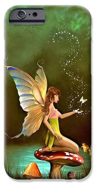 Angel Blues iPhone Cases - Fairy iPhone Case by AnaCB Studio