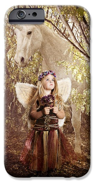 Fairy and Unicorn iPhone Case by Cindy Singleton