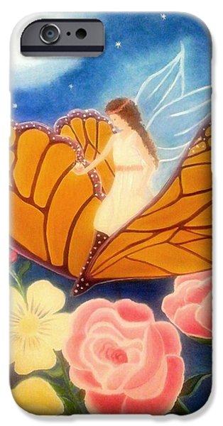 Night Angel iPhone Cases - Fairy Fantasy iPhone Case by Shikha Narula
