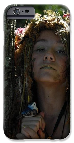 Faries iPhone Cases - Fairy in the Woods iPhone Case by Kevin  Michael