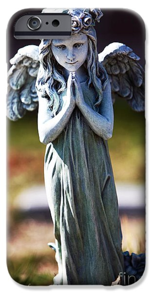Headstones iPhone Cases - Fairy iPhone Case by John Rizzuto
