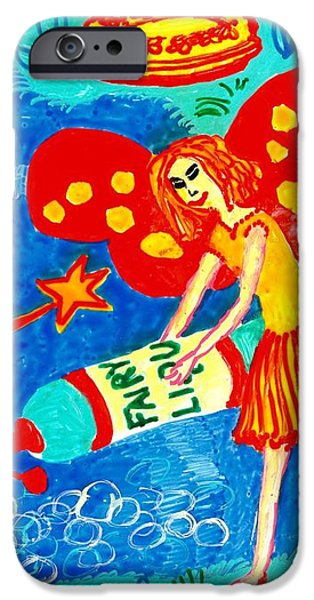 Sue Burgess Ceramics iPhone Cases - Fairy liquid iPhone Case by Sushila Burgess