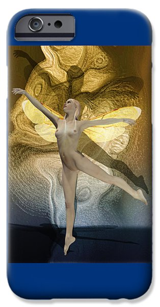Tinker Bell iPhone Cases - Fairy Virgin By Quim Abella iPhone Case by Joaquin Abella
