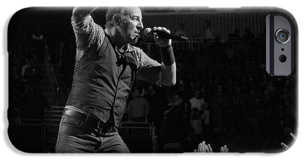 Bruce Springsteen iPhone Cases - Faith Will Be Rewarded iPhone Case by Jeff Ross