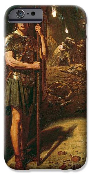 Order iPhone Cases - Faithful unto Death iPhone Case by Sir Edward John Poynter