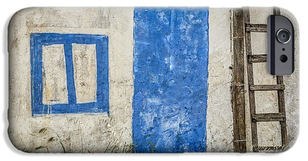 Ruin iPhone Cases - Fake Blue Door iPhone Case by Marco Oliveira