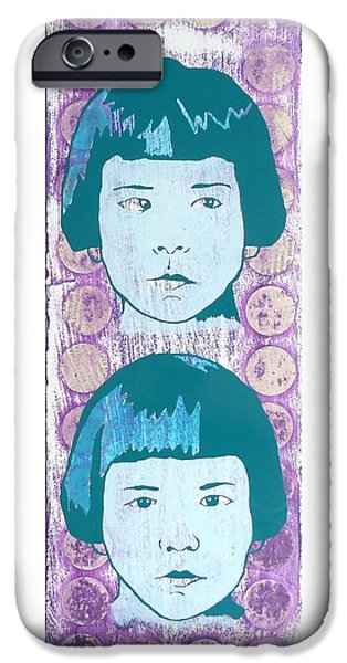 Little Girl iPhone Cases - Faking It iPhone Case by Desiree Warren