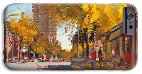 Canada Paintings iPhone Cases - Fall 2010 Canada iPhone Case by Ylli Haruni