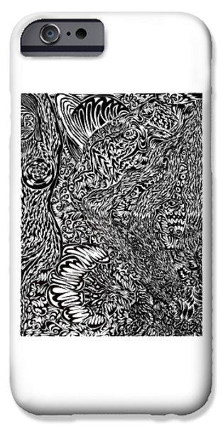 Abstract Digital Drawings iPhone Cases - Fall iPhone Case by AR Teeter