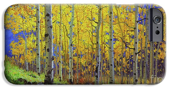Breathtaking iPhone Cases - Fall Aspen Hill  iPhone Case by Gary Kim
