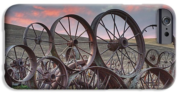 Contour Plowing iPhone Cases - Fall at the Dahman Barn II iPhone Case by Doug Davidson