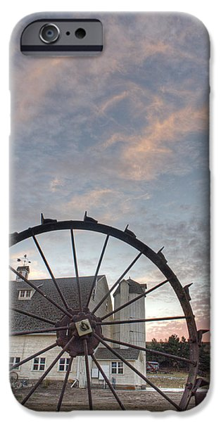 Agriculture iPhone Cases - Fall at the Dahman Barn III iPhone Case by Doug Davidson
