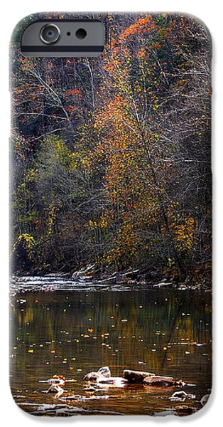 Fall Color Elk River iPhone Case by Thomas R Fletcher