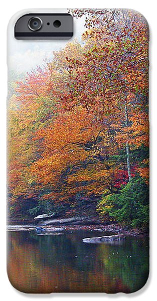 Fall Color Williams River Mirror Image iPhone Case by Thomas R Fletcher