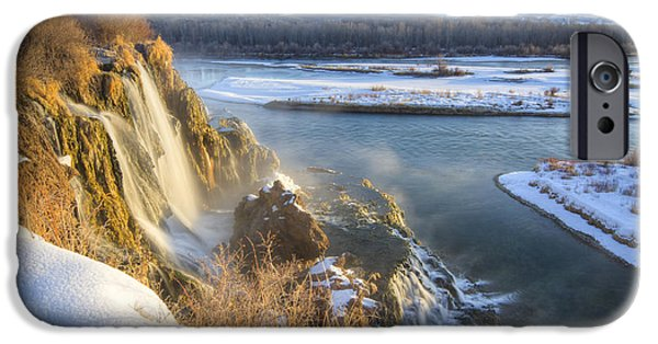 Recently Sold -  - Creek iPhone Cases - Fall Creek Winter iPhone Case by Idaho Scenic Images Linda Lantzy