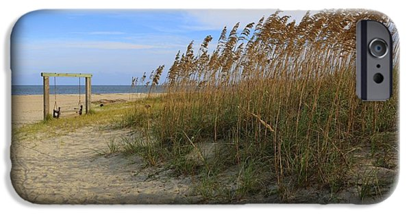 Tybee Island iPhone Cases - Fall Day on Tybee Island iPhone Case by Carol Groenen