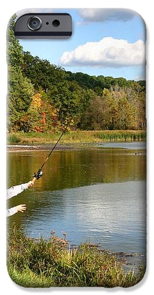 Fall Fishing iPhone Case by Kristin Elmquist