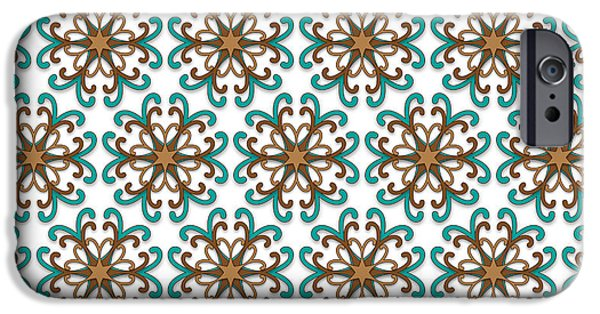 Seamless Tapestries - Textiles iPhone Cases - Fall Floral Pattern iPhone Case by Jozef Jankola