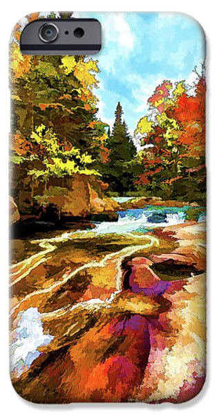 Ledge Digital iPhone Cases - Fall Foliage at Ledge Falls 1 iPhone Case by Bill Caldwell -        ABeautifulSky Photography