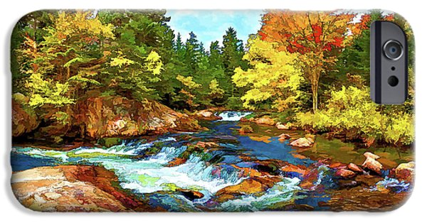 Ledge Digital iPhone Cases - Fall Foliage at Ledge Falls 2 iPhone Case by Bill Caldwell -        ABeautifulSky Photography