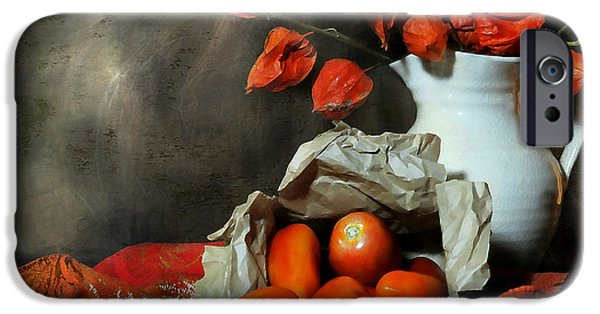 Still Life With Pitcher iPhone Cases - Fall Forward iPhone Case by Diana Angstadt