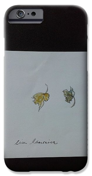 Fall Tapestries - Textiles iPhone Cases - Fall Leaves iPhone Case by Lisa LaMonica
