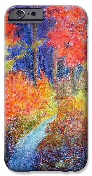 Pathway Pastels iPhone Cases - Fall Passage iPhone Case by Ronine McIntyre