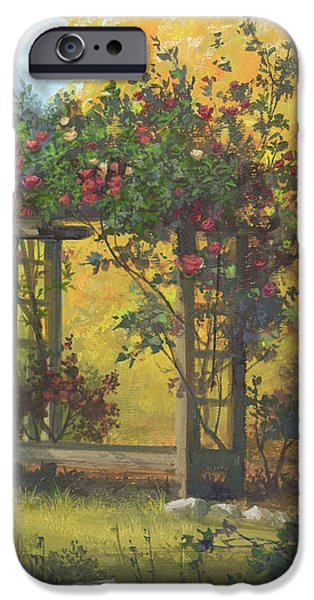 Michael Paintings iPhone Cases - Fall Yellow iPhone Case by Michael Humphries
