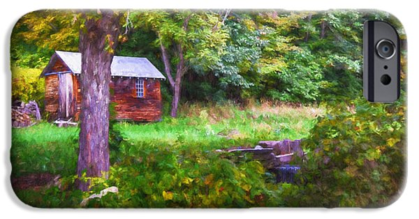 White House iPhone Cases - Falling Into Autumn iPhone Case by Tricia Marchlik