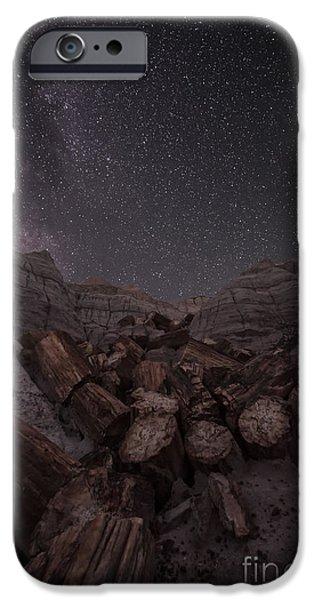 Petrified Forest Arizona iPhone Cases - Falling iPhone Case by Melany Sarafis
