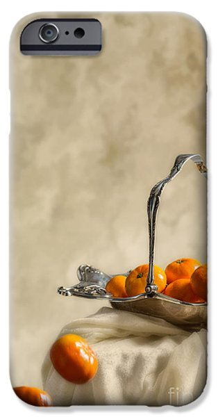 Antiques iPhone Cases - Falling Oranges iPhone Case by Amanda And Christopher Elwell
