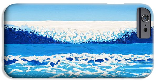 Abstract Seascape iPhone Cases - Falling Sea iPhone Case by Jaison Cianelli