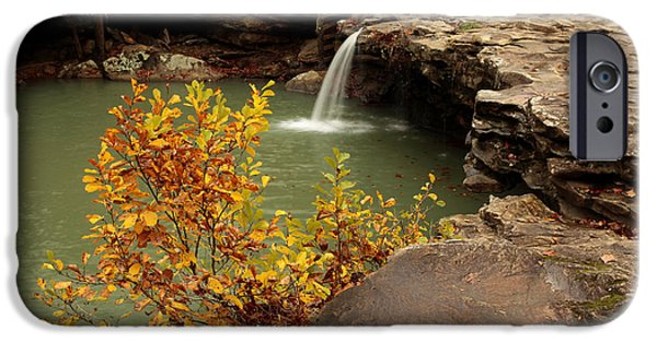 Arkansas iPhone Cases - Falling Water Falls iPhone Case by Matt Blaisdell