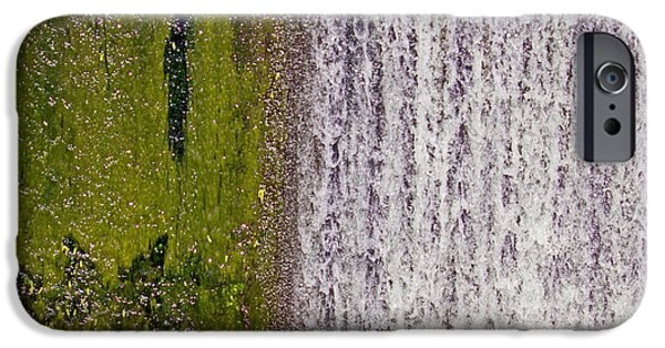 Alga iPhone Cases - Falling Water iPhone Case by Stephanie Lindsay