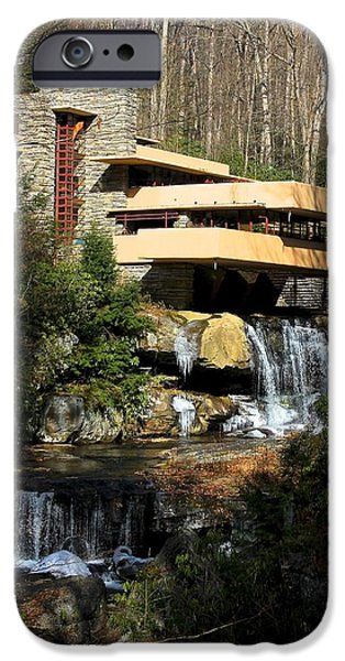 Pines iPhone Cases - Fallingwater iPhone Case by Aaris King