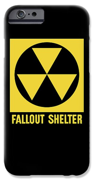 Fallout Shelter Sign iPhone Case by War Is Hell Store