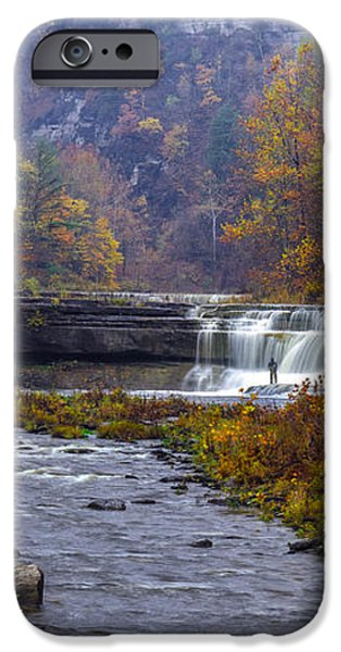 Falls Fishing iPhone Case by Mark Papke