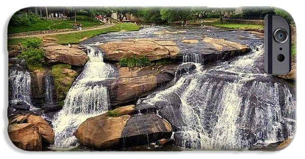 Pathway iPhone Cases - Falls Park Waterfalls in Greenville South Carolina  iPhone Case by Kathy Barney
