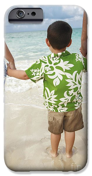 Youthful iPhone Cases - Family at Lanikai II iPhone Case by Brandon Tabiolo - Printscapes