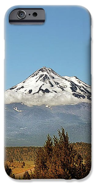 Family Portrait - Mount Shasta and Shastina Northern California iPhone Case by Christine Till