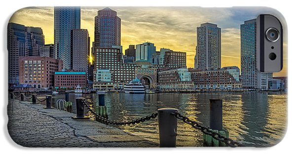 United States iPhone Cases - Fan Pier Boston Harbor iPhone Case by Susan Candelario