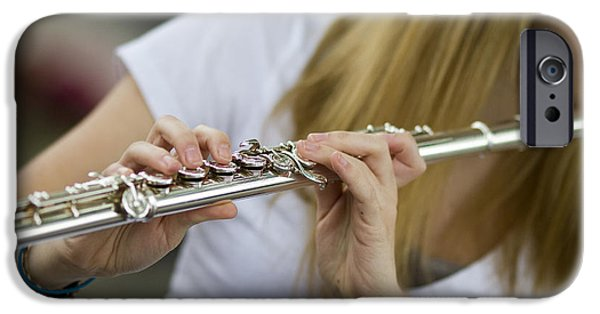 Flute iPhone Cases - Fancy Fingers iPhone Case by Rebecca Cozart
