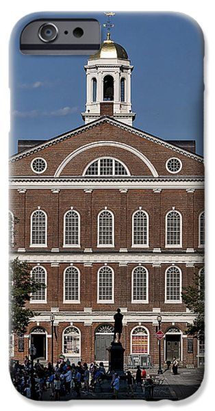 Boston Ma iPhone Cases - Faneuil Hall - Boston - Massachusetts iPhone Case by Steven Ralser
