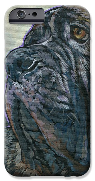 English Mastiff iPhone Cases - Fang iPhone Case by Nadi Spencer