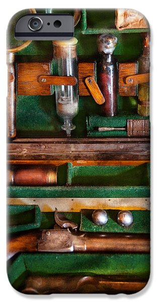 Fantasy - Emergency Vampire Kit  iPhone Case by Mike Savad